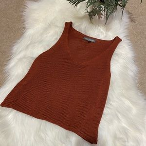 AEO Don't Ask Why: Crochet Knit Tank Top Shirt